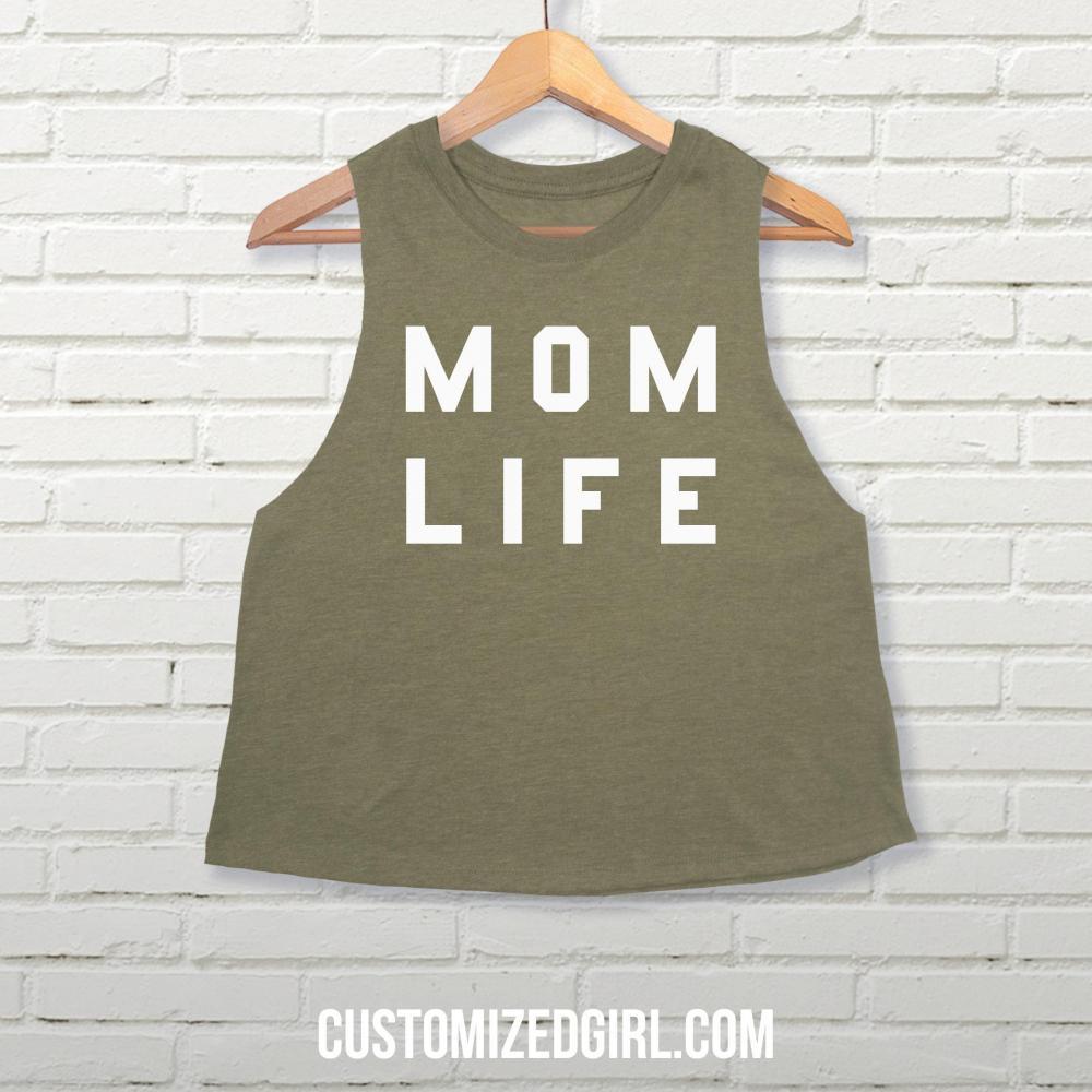 Mom Life Crop Tank