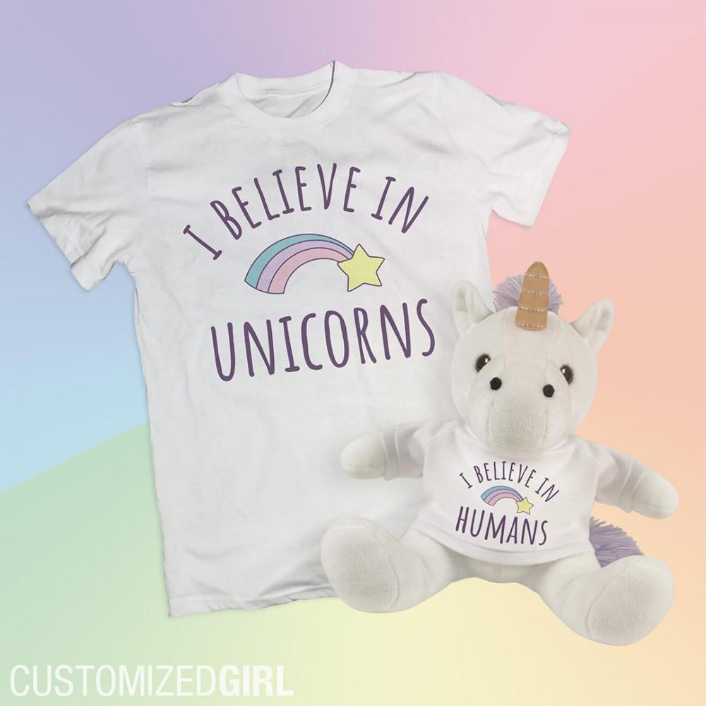 I Believe In Humans Unicorn Gift