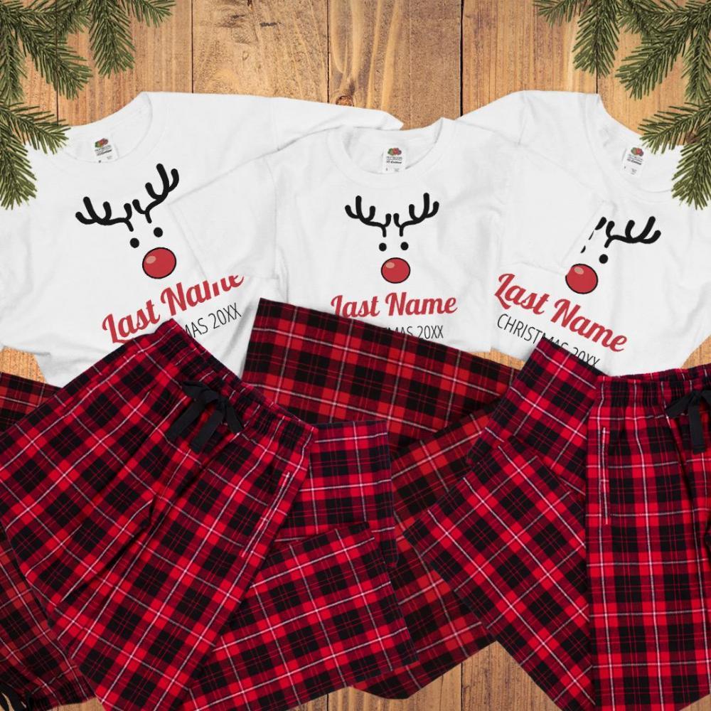 Cute Family Xmas Matching Pajamas