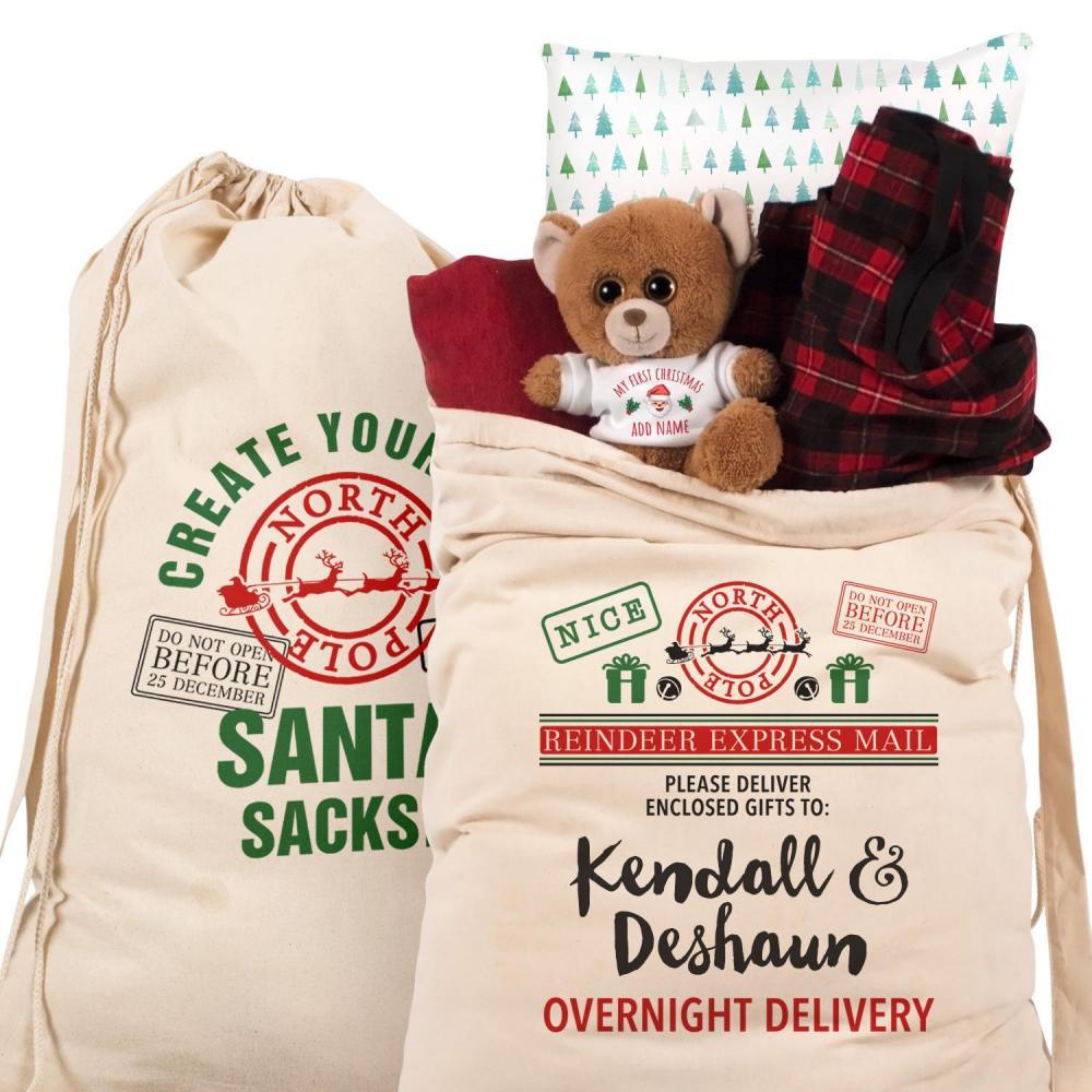 Customizable Large Santa Gift Sack