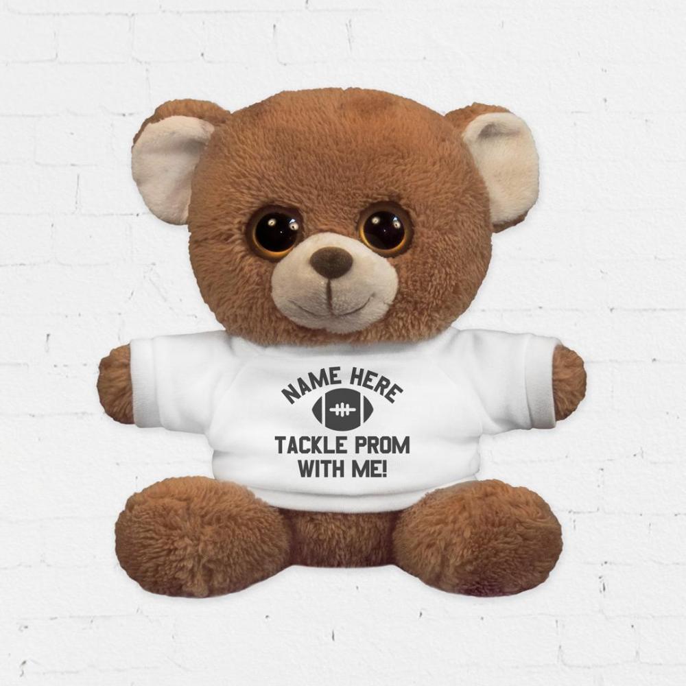 Custom Football Promposal Bear