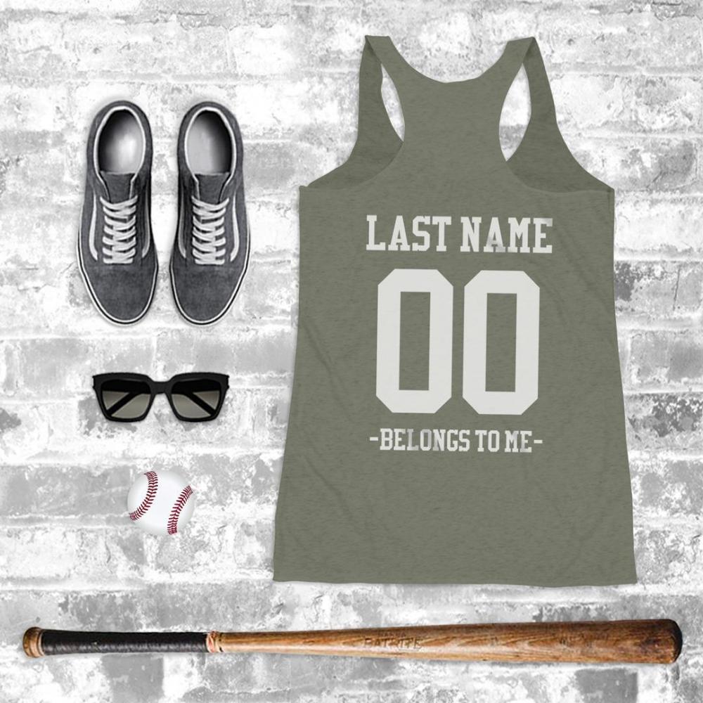 Custom Cute Baseball Girlfriend Tank