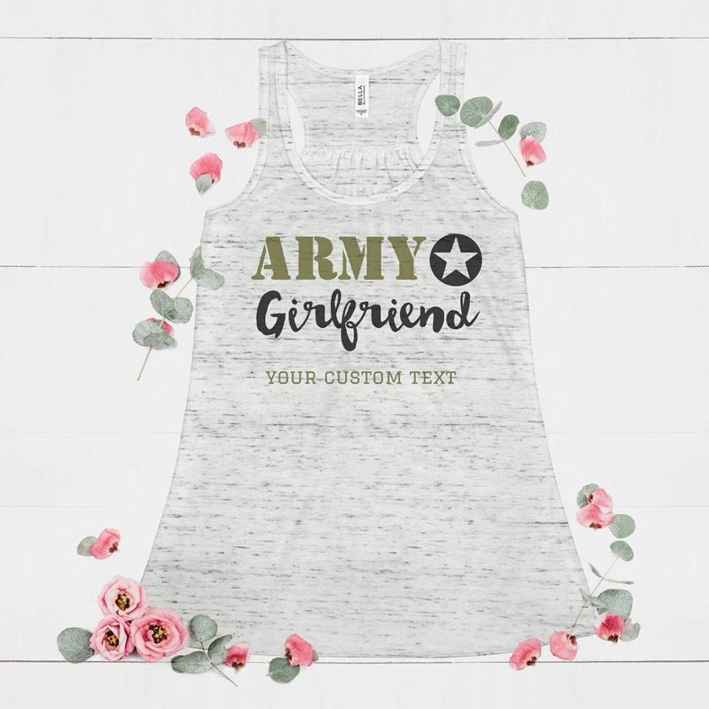Custom Army Girlfriend Flowy Tank