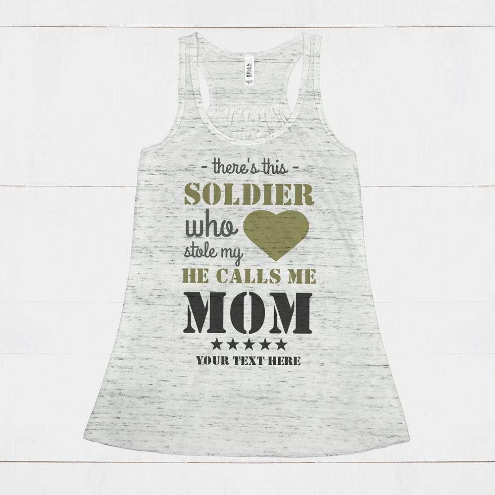 Cute Flowy Military Mom Custom Tank
