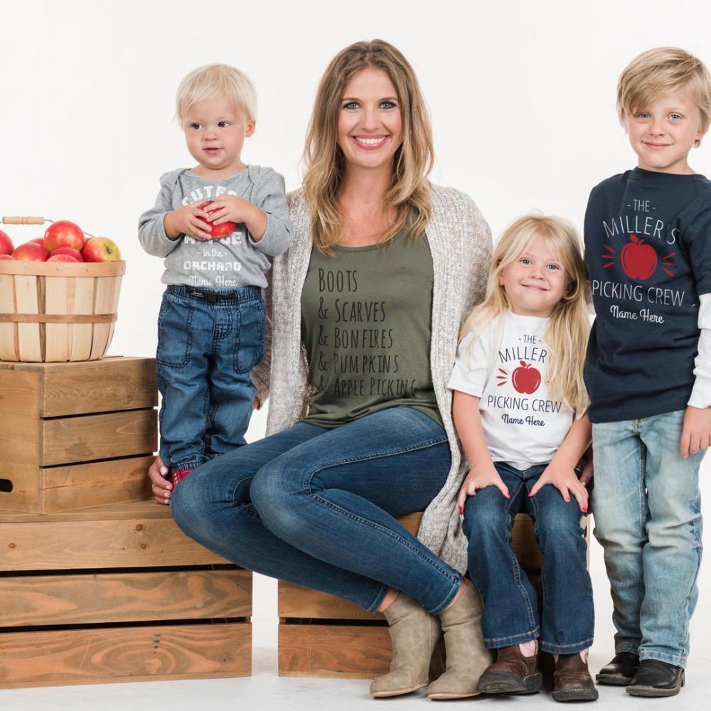 Custom Family Group Apple Picking