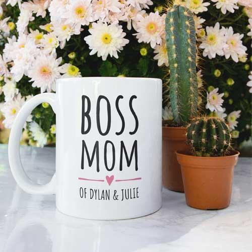 Boss Mom Gift Mother's Day Add Name