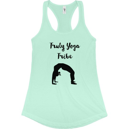 Truly Yoga Tribe Racerback Tank (Mint green)