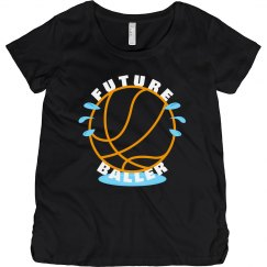 Future Baller Funny Maternity T-shirt