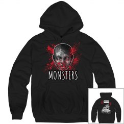 Monsters Hoodie Black