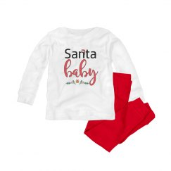 Santa baby Christmas pajamas
