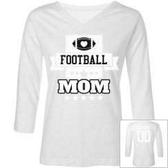 Football Mom Seal With Custom Back Name and Number