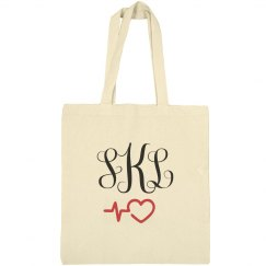 Custom Monogram Nurse Tote Bag