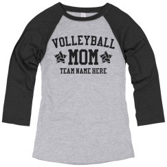 Custom Volleyball Mom Team Raglan