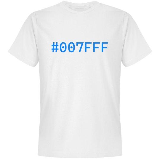 #007FFF Tee White