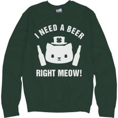 Need A Beer Right Meow Green