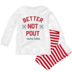 Better Not Pout Toddler Christmas Pajama Set