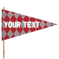 Custom Text Pennant Flag