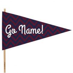 Custom Name Cheer Flag