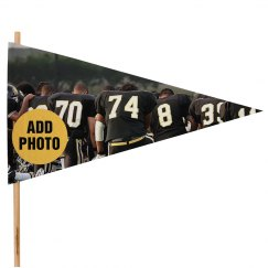 Custom Football Photo Spirit Flag