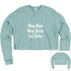Move More Crop Sweatshirt