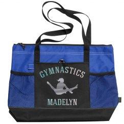 Silver Glitter Custom Gymnastics