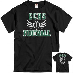 ECHS FOOTBALL Black Distressed