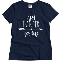 Ladies APA Dancer for Life Slim Fit T