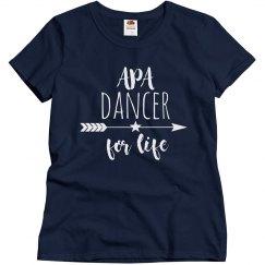 Ladies APA Dancer for Life Slim Fit T
