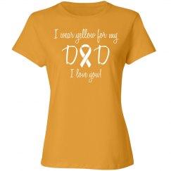 Dad Bone Cancer - Yellow