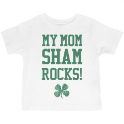 Mom Shamrocks Funny St Pats Kid
