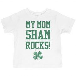Mom Shamrocks Funny St Pats Kid