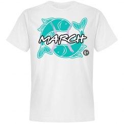 Johnny Dappa Trading Co. Premium March Pisces Zodiac T-