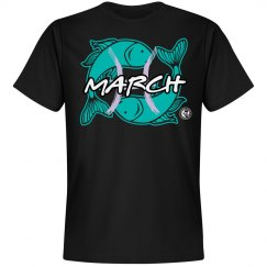 Johnny Dappa Trading Co. Premium March Pisces Zodiac T-