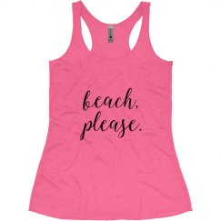 Beach Please Racerback Tank