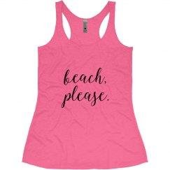 Beach Please Racerback Tank