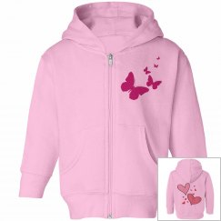 Toddler Love Pink Girls Hoodie
