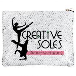 Flip Sequin Makeup Bag