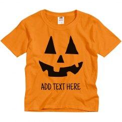 Custom Kids Pumpkin Face Costume