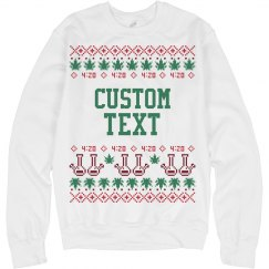 Custom Cannabis Ugly Sweater
