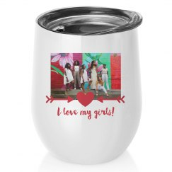 Galentine's Day Upload Wine Tumbler