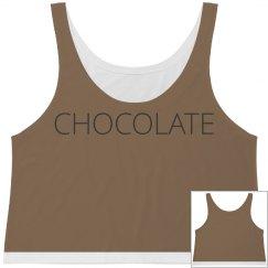 Chocolate crop top