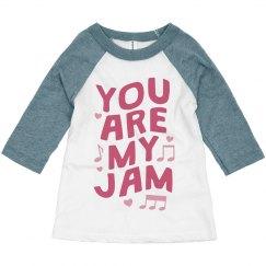 You Are My Jam Valentine's Day Toddler Raglan