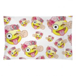Emoji All Over Print Pillow