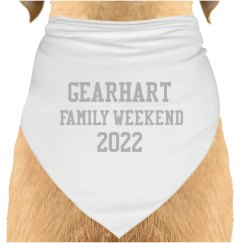 Gearhart Family Weekend Doggy Bandana