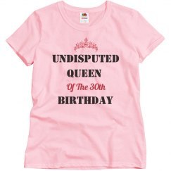 Undisputed queen of the birthday