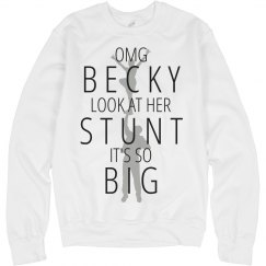 She Likes Big Stunts Funny Cheer Sweatshirt
