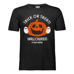 Add Your Name Trick Or Treat Halloween T-Shirt