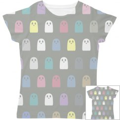 Cute Pastel Ghosts All Over Pattern