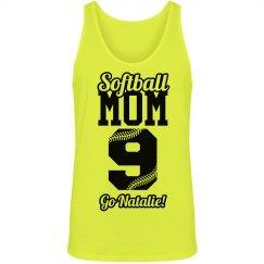 Softball Mom Neon Softball Yellow Tank Top