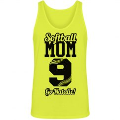 Softball Mom Neon Softball Yellow Tank Top